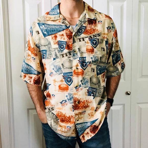 daa7e5155 NFL Originals Tennessee Titans Hawaiian Shirt M. M 5b54bdd2aaa5b8b51d844f11